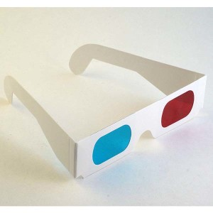 Red/Cyan Anaglyph Glasses, 3 pr.